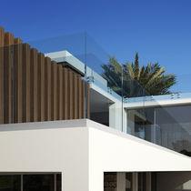 Barandilla de vidrio / con barrotes / de exterior / para balcón