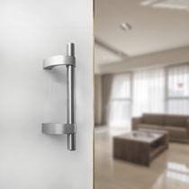 Tirador de puerta para puerta / de acero inoxidable / moderno / acabado satinado