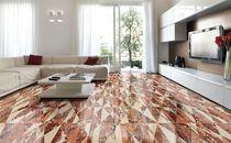 Baldosa de suelo / de mármol / con motivos geométricos / multicolor