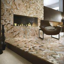 Baldosa de suelo / de mármol / con motivos geométricos / con motivos de la naturaleza