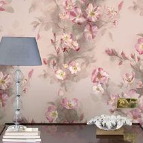 Papeles pintados clásicos / de algodón / con motivos florales / pintados a mano
