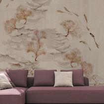 Papeles pintados de diseño original / de algodón / con motivos de la naturaleza / chinoiserie