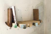 Estantería mural / moderna / de madera / de recuperación