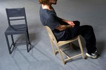 Silla moderna / de madera / de caucho / de acero
