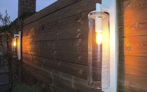 Aplique moderno / de jardín / de vidrio / de aluminio