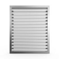 Rejilla de ventilación de aluminio / rectangular / cuadrada / blanca