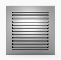 Rejilla de ventilación de aluminio / de acero inoxidable / rectangular / cuadrada