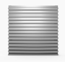 Rejilla de ventilación de aluminio / rectangular / cuadrada / para fachada