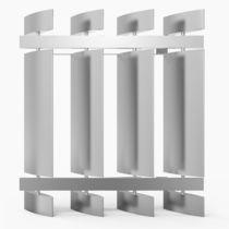 Celosía con lamas de aluminio / para fachada / para ventana / vertical