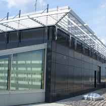 Celosía con lamas de aluminio / para fachada / para techado / para refugio