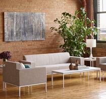 Sofá moderno / de tela / para edificio público / profesional
