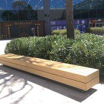 Banco público / de jardín / de diseño minimalista / de madera
