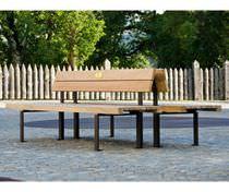 Banco público / moderno / de madera / de metal