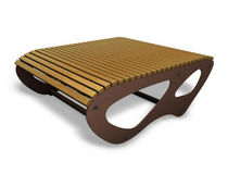 Mesa moderna / de madera / rectangular / de exterior