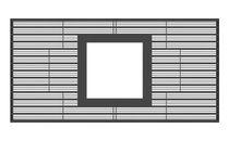 Cubrealcorques de metal / cuadrado