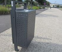 Cubo de basura público / de pared / empotrable / de metal