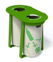 Cubo de basura público / de metal / de reciclaje / moderno