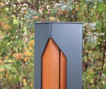 Bolardo de protección / de madera / amovible