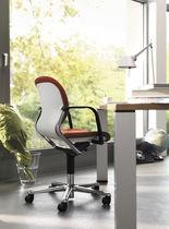 Silla de oficina moderna / de tela / de cuero / de acero pulido