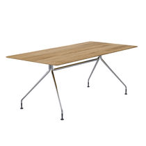 Mesa de reuniones / moderna / de madera / en MDF estratificado