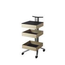 Mesa carrito de servicio / de aluminio / profesional / para material informático