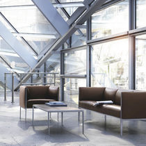 Mesa de centro moderna / de madera / de vidrio / rectangular