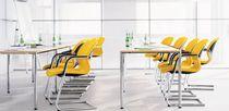 Mesa moderna / de material laminado / rectangular / cuadrada
