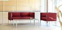 Sofá modular / moderno / de cuero / de aluminio