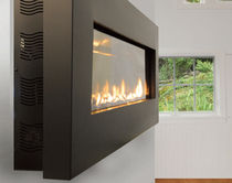 chimenea de pared moderna (hogar cerrado a gas) SLIM 46&quot; SPARK modern fires