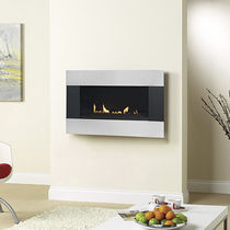 chimenea de pared moderna (hogar cerrado a gas) LATITUDE 4500 SATIN TRIM Burley