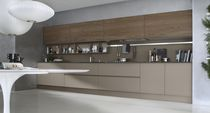 cocina moderna chapada en madera / vidrio SYSTEM COLLECTION Pedini