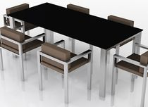 conjunto de sillas y mesa para jardín moderno de metal LIX TABLE AND CHAIR SET Swanky Design - Premium Contemporary Furniture
