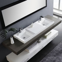 lavabo doble empotrado en resina DUET The Bath Collection