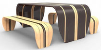 mesa de diseño original de madera SURF-ACE by Christopher Duffy Duffy London