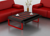 mesa de centro moderna de metal y madera EVOQUE Swanky Design - Premium Contemporary Furniture