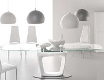 mesa extensible moderna de vidrio ORBITAL by Pininfarina Calligaris Italian home design since 1923