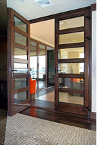 puerta de interior doble abatible de madera  Panda Windows & Doors
