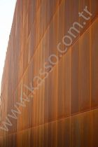 revestimiento de fachada de acero corten COR-TEN A FACADE PANELS Kasso Engineering Limited Co.