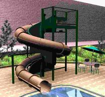 tobogán tubular para parques acuáticos TURBO SLIDE   Myrtha Pools