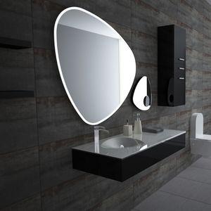 espejo de pared de diseo original para bao con luz led