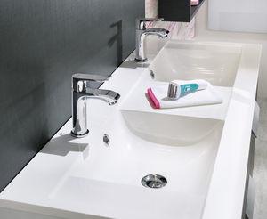 encimera de lavabo doble de mrmol
