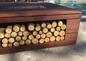 brasero de jardn de lea de bioetanol de madera con barbacoa