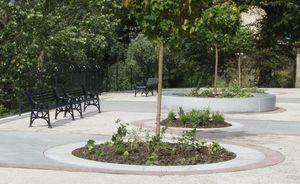 jardinera de piedra natural redonda moderna para lugar pblico