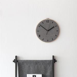 relojes modernos   analógicos   de pared   grises 4f28e7248808