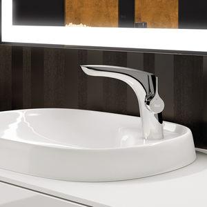 grifo monomando para lavabo   en encimera   de metal cromado   de baño f361114453fa