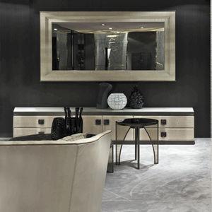 espejo de pared moderno rectangular de metal