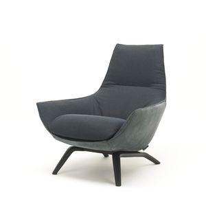 silln moderno de tejido de cuero de acero inoxidable - Sillon Moderno