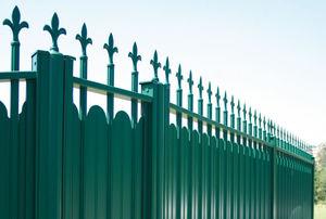 valla de jardn de barras de aluminio de color