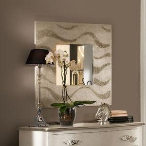 espejo de pared moderno cuadrado plateado