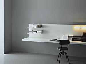 escritorio de madera moderno para hotel mural